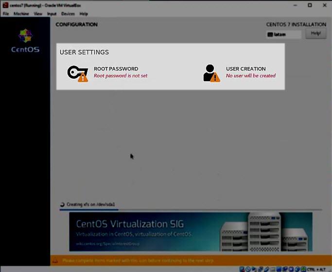 Installing CentOS 11